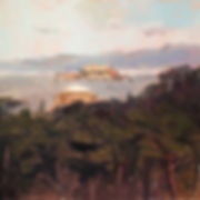 Alcatraz prison oil paiting palace of fine arts inspiration point san francisco