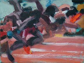 100 Meter Sprint, Malerei