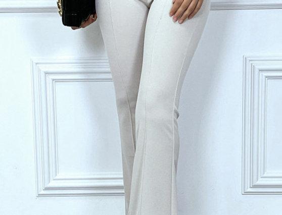 Pantalon flare stretch