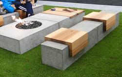 Concrete Firepit & Bench