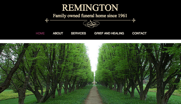 Community website templates – Funeral Home
