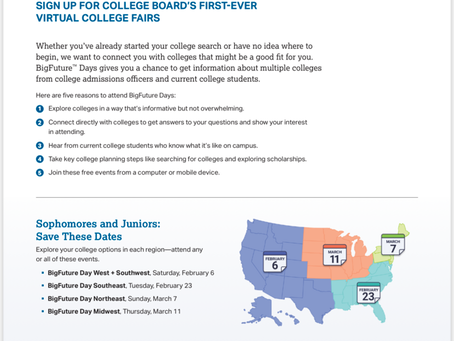 College Board Virtual College Fair