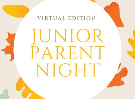 2020 Junior Parent Night Presentation