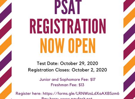 PSAT Registration Now Open