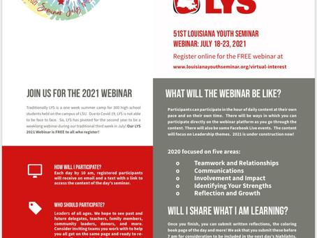 Louisiana Youth Seminar, July 18-23