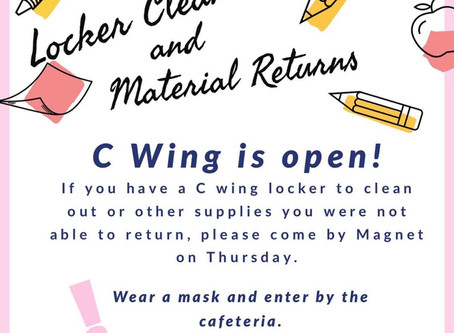 Locker Clean-out and Material Return