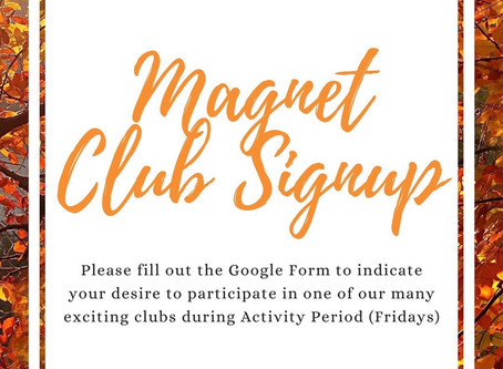 Magnet Club Sign-up