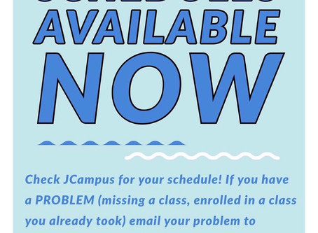 Schedules available today