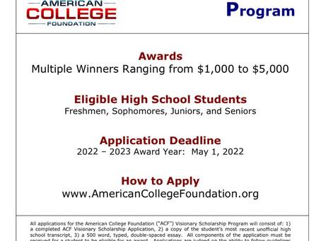 ACF Visionary Scholarship