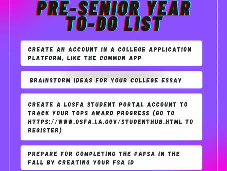 Pre-Senior Year To-Do List