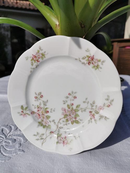 Assiette à dessert en porcelaine Grand Feu