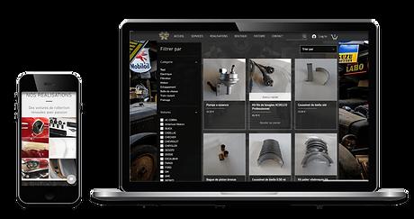 Images de site web ordinateur et mobile de Detroit Garage