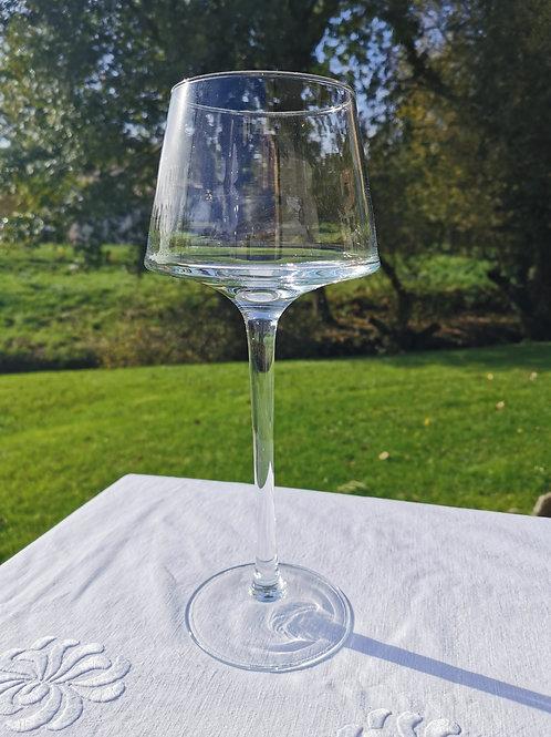 Vase haut en verre soufflé, 35 cm