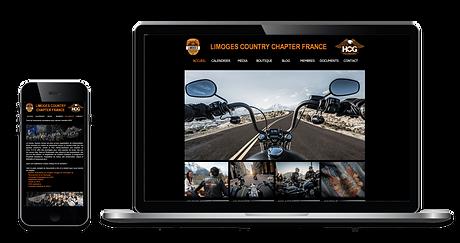 Images de site web ordinateur et mobile de HOG Limoges