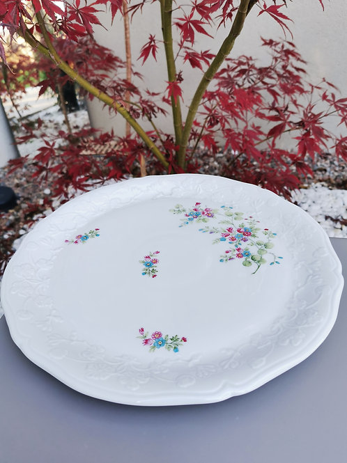 Plat rond en porcelaine de Sologne
