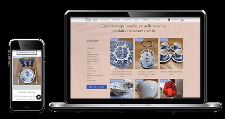 Images de site web ordinateur et mobile de Blue Java