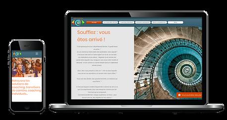 Images de site web ordinateur et mobile de AME Coaching Limoges