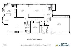 3D Interactive Tours Virtual Tours - Matterport B&W Schematic Floor Plans