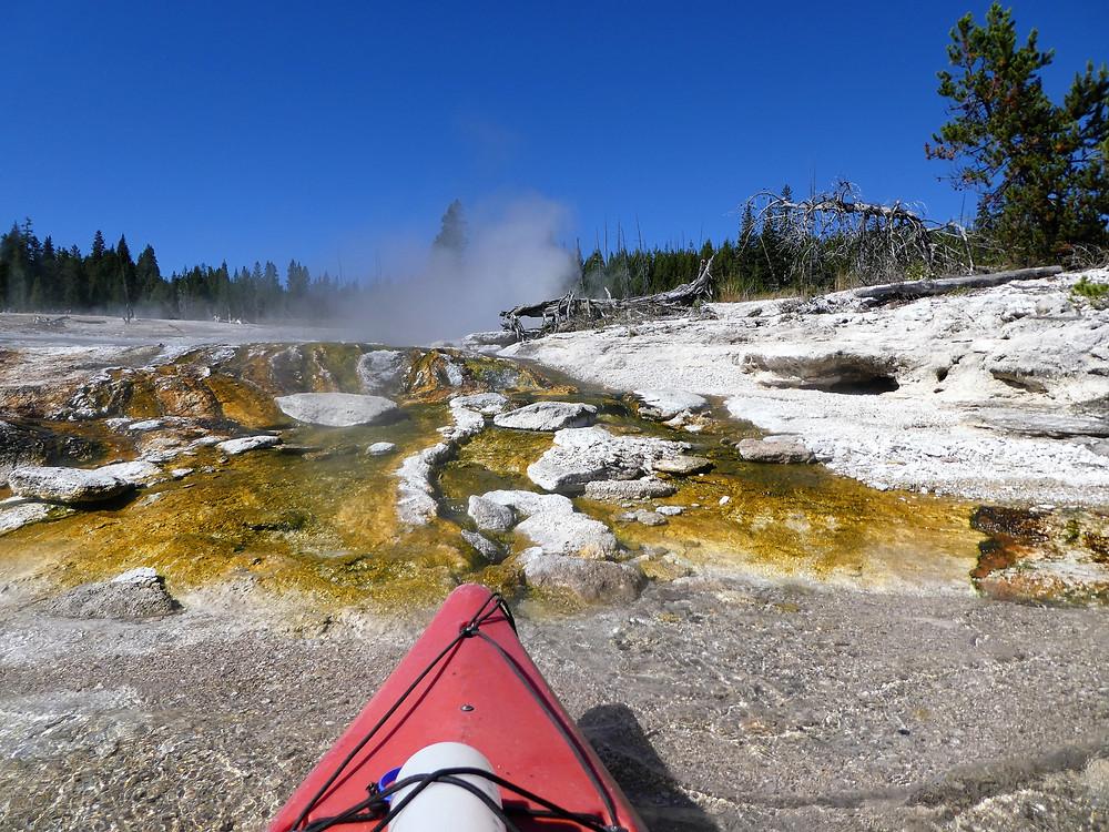 Michelle Audette Kayaking Yellowstone Lake