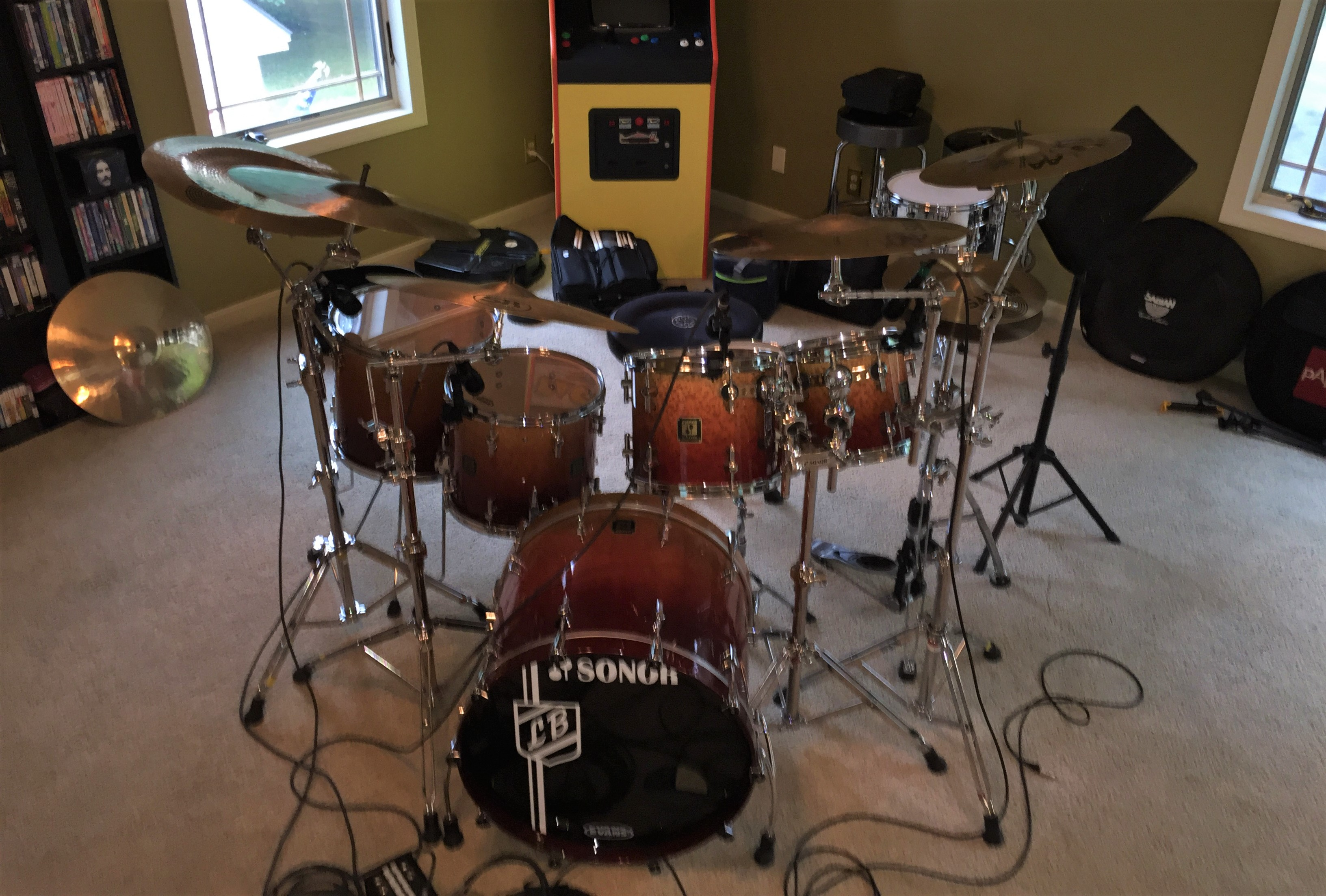 My Sonor set in a recording session