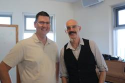 With Tony Levin