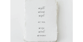 We Fall. We Rise. Encouragement Card