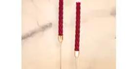 "Neutrals 10"" Spiral Beeswax Candles - 2 Pack - Wine"
