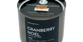 Cranberry Noel Antique Brass Candle
