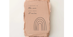 """""""I believe in the sun even when it rains"""" Encouragement Card"""