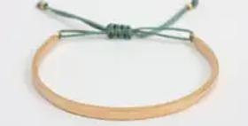 Gold Celeste Bracelet - Sage