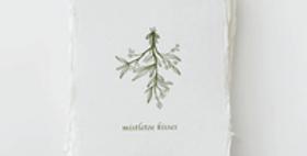"""Mistletoe Kisses"" Christmas Holiday Card Box Set"