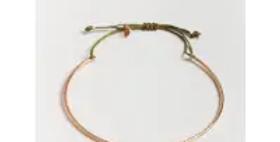 Gold Luna Bracelet - Olive