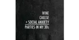 Social Anxiety Cocktail Napkin
