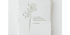 """""""I always pick you"""" Love Plant Floral Greeting Card"""