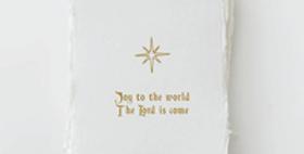 """Joy to the World"" Christmas Holiday Greeting Card Box Set"