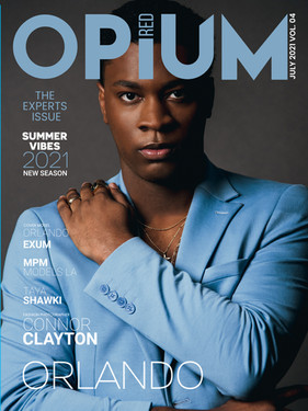 Orlando Exum Cover Story for Opium Red Magazine