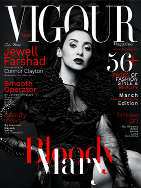 Jewell Farshad - Vigour Magazine Cover Story + Interview with Connor