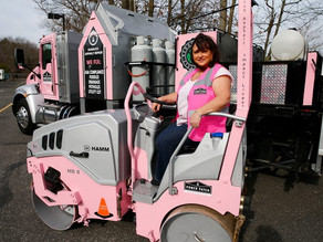 Power Patch fills in potholes while fighting breast cancer