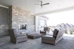 Gray Strip Fireplace