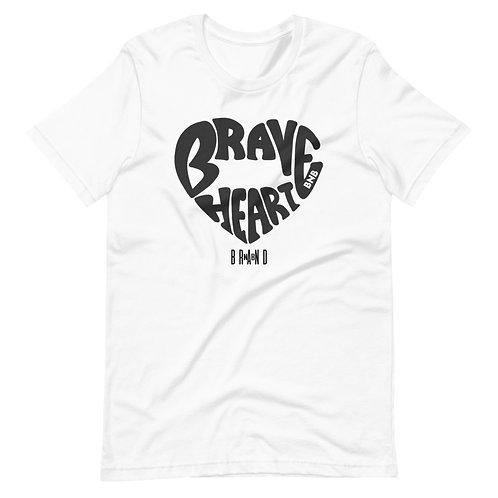 Brave Heart Black logo Short-Sleeve Unisex T-Shirt