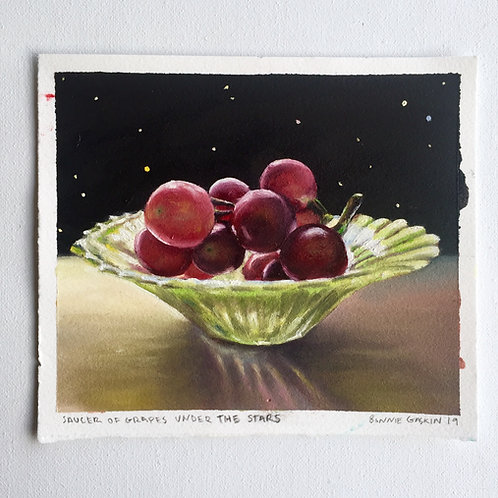 Saucer Of Grapes Under The Stars - 🔴 SOLD