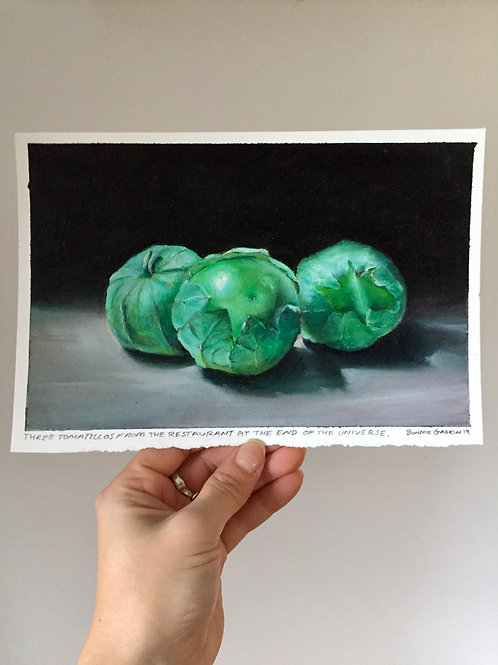 Three Tomatillos From The Restaurant At The End Of The Universe - 🔴 SOLD
