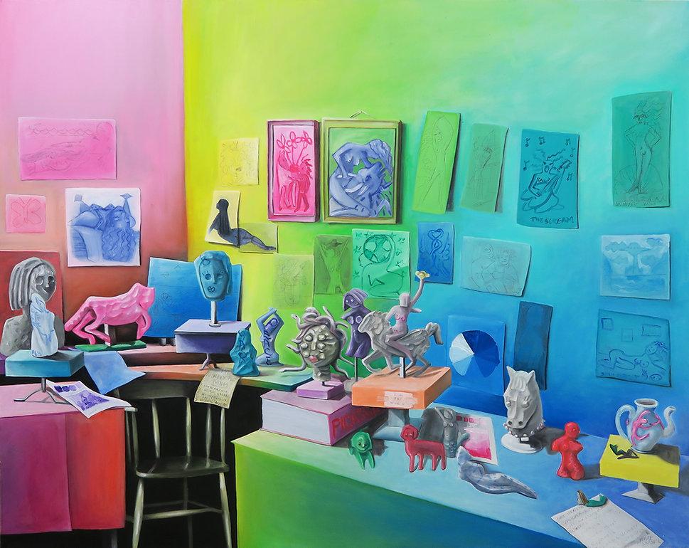 Bonnie Gaskin_Young Womans Art Studio En
