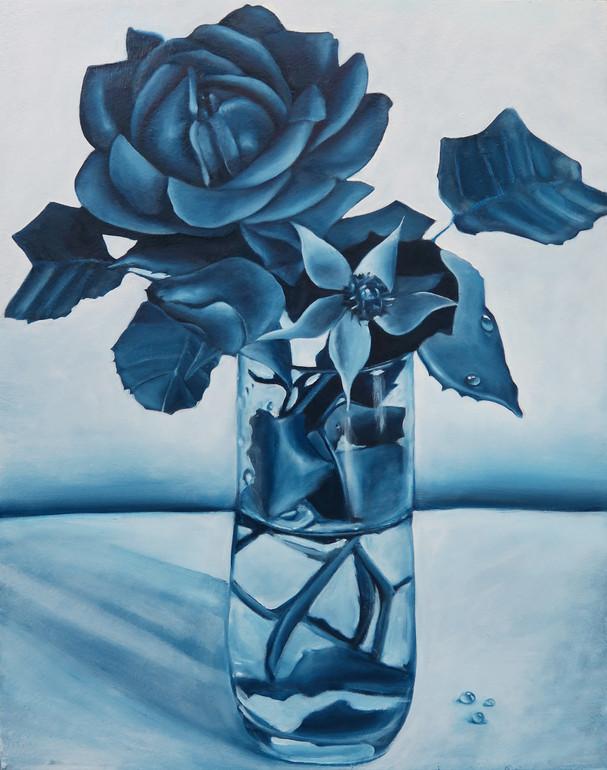 Blue Rose, 2019 Oil on Panel 18 x 14 in