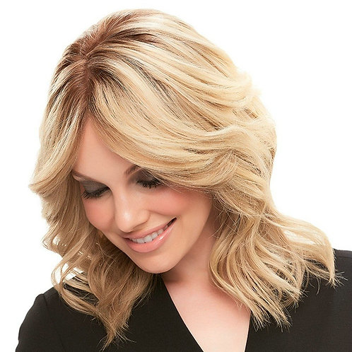 Lux Creamed Rooted Blonde Hair Topper