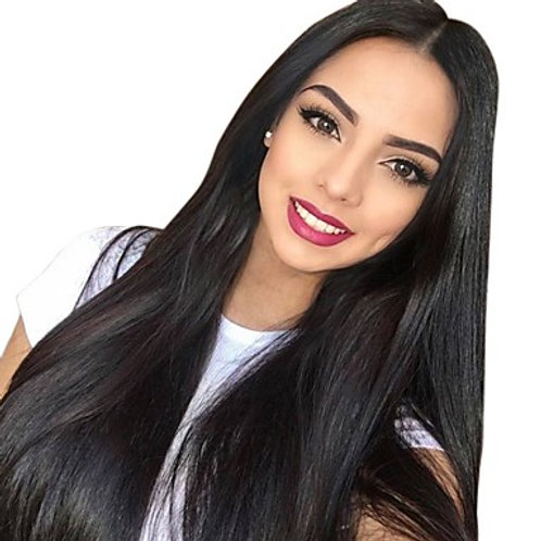 """Euro Lux Remy Handtied Hair Extensions """"Just Black"""" #1"""