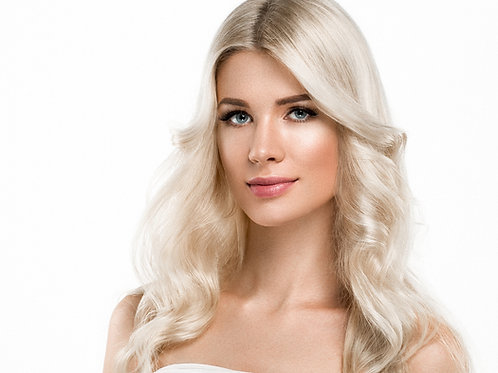 Euro Lux Remy Handtied Hair Extensions Platinum Blonde #60