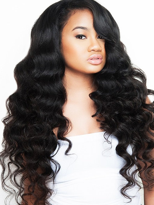 Pink Lux Loose Wave Brazilian Bundle