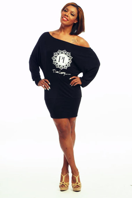 SIGNATURE LUX LOGO (BLACK) SLOUCH DRESS