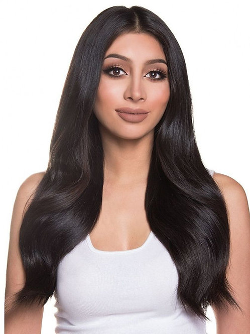 "Euro Lux Remy Handtied Hair Extensions ""Natural Black"" #1b"